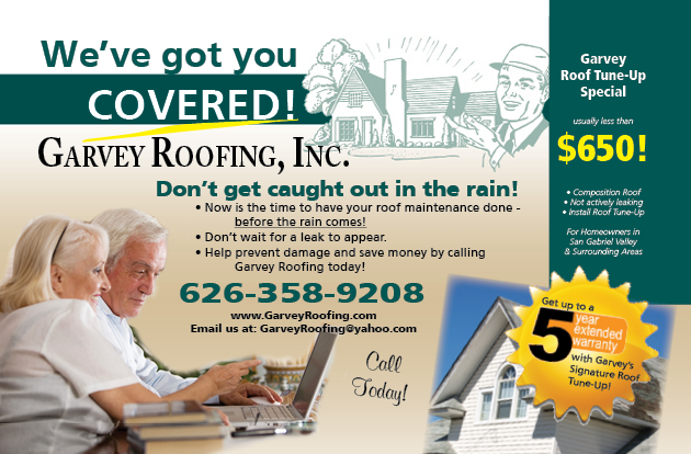 Mailer example for Garvey Roofing