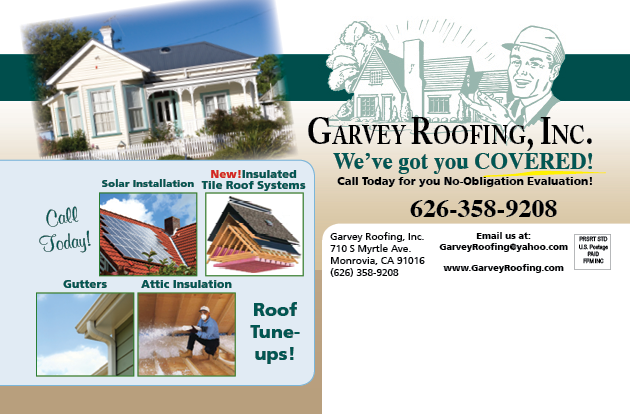 Mailer example for Garvey Roofing maintenance